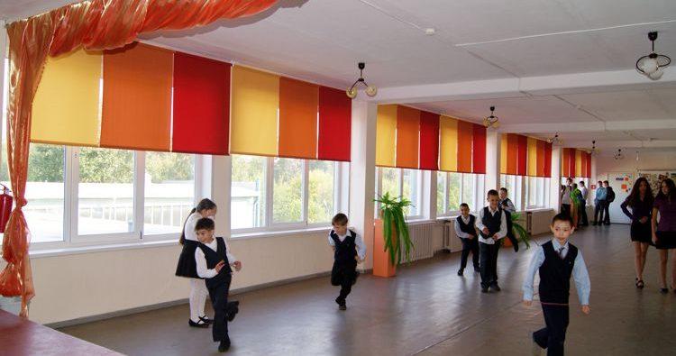 рулонные шторы в школе