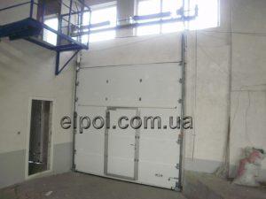 секционные ворота высокий монтаж