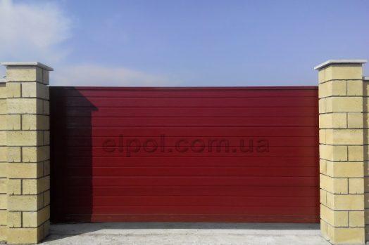 ворота металлические консольные