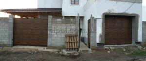Откатные и секционные ворота в фасаде