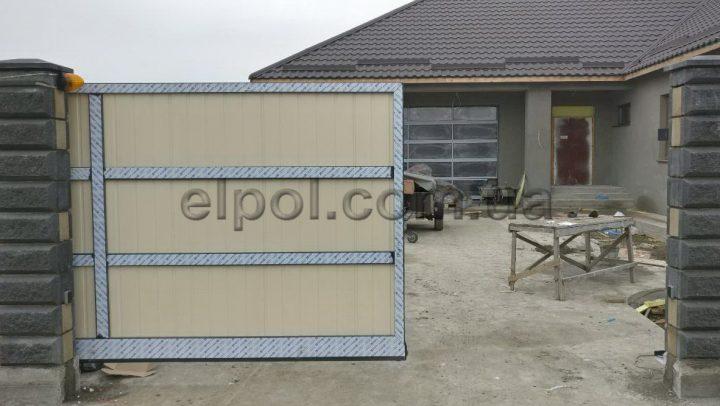 Элпол. Установка откатных ворот ADS400 и панорамных ворот в гараж